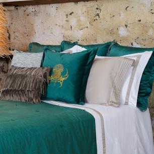 Almofada Cardo Veludo Verde Bordada 50x50 Muguet Home
