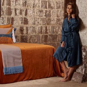 Robe de Veludo Azul Muguet Home