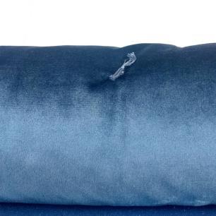 Colcha de Veludo Azul Casal Muguet Home