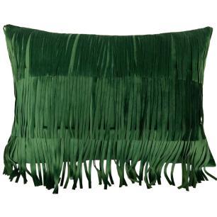 Almofada Cardo Veludo Verde com Franjas 40x50 Muguet Home