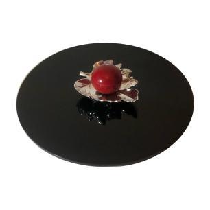 Prato giratório para servir na mesa 50 - cm Preto