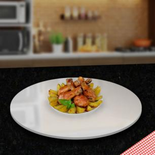 Prato giratório para servir na mesa 50 - cm Branco
