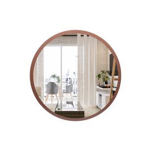 Espelho Redondo de Parede Decorativo para Sala 60cm - Rosê Gold