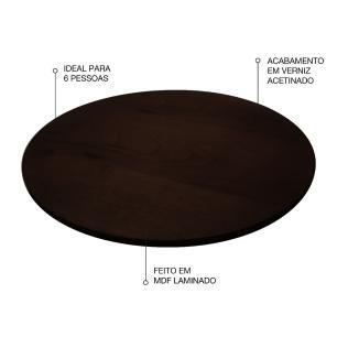 Prato giratório para servir na mesa 70 cm - Tabaco