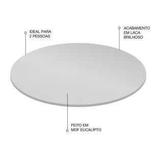 Bandeja Giratória Decorativa Para Cozinha 40 Cm Branco