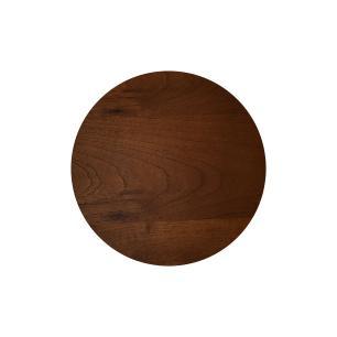 Mesa Lateral Monopé de Madeira 40 cm - Castanho