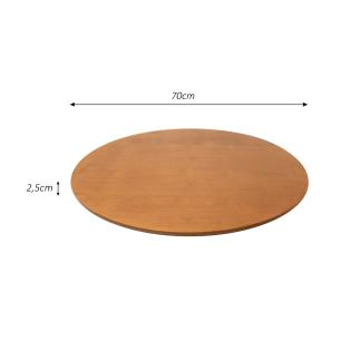 Prato giratório para servir na mesa de jantar laminado 70 cm