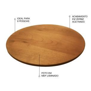 Prato giratório para servir na mesa de jantar laminado 80 cm