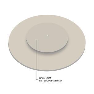 Prato giratório para servir na mesa 50 cm - Off White