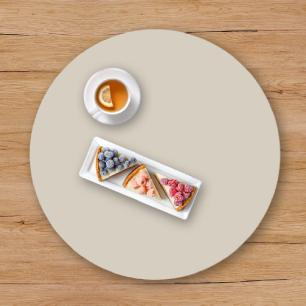 Prato giratório para servir na mesa 60 cm - Off White