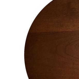 Mesa Lateral Monopé de Madeira 50 cm - Castanho