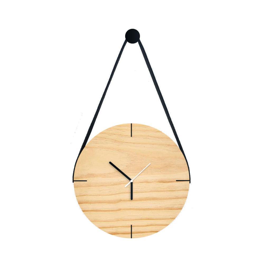 Relógio de Parede em Madeira Pinus