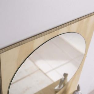 Espelho de Banheiro Organizador em Madeira Pinus