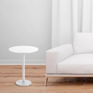 Mesa Lateral Monopé de laca 40 cm - Branco