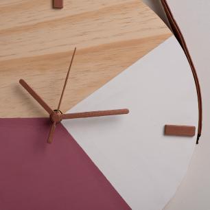 Relógio de Parede Decorativo em Madeira Pinus