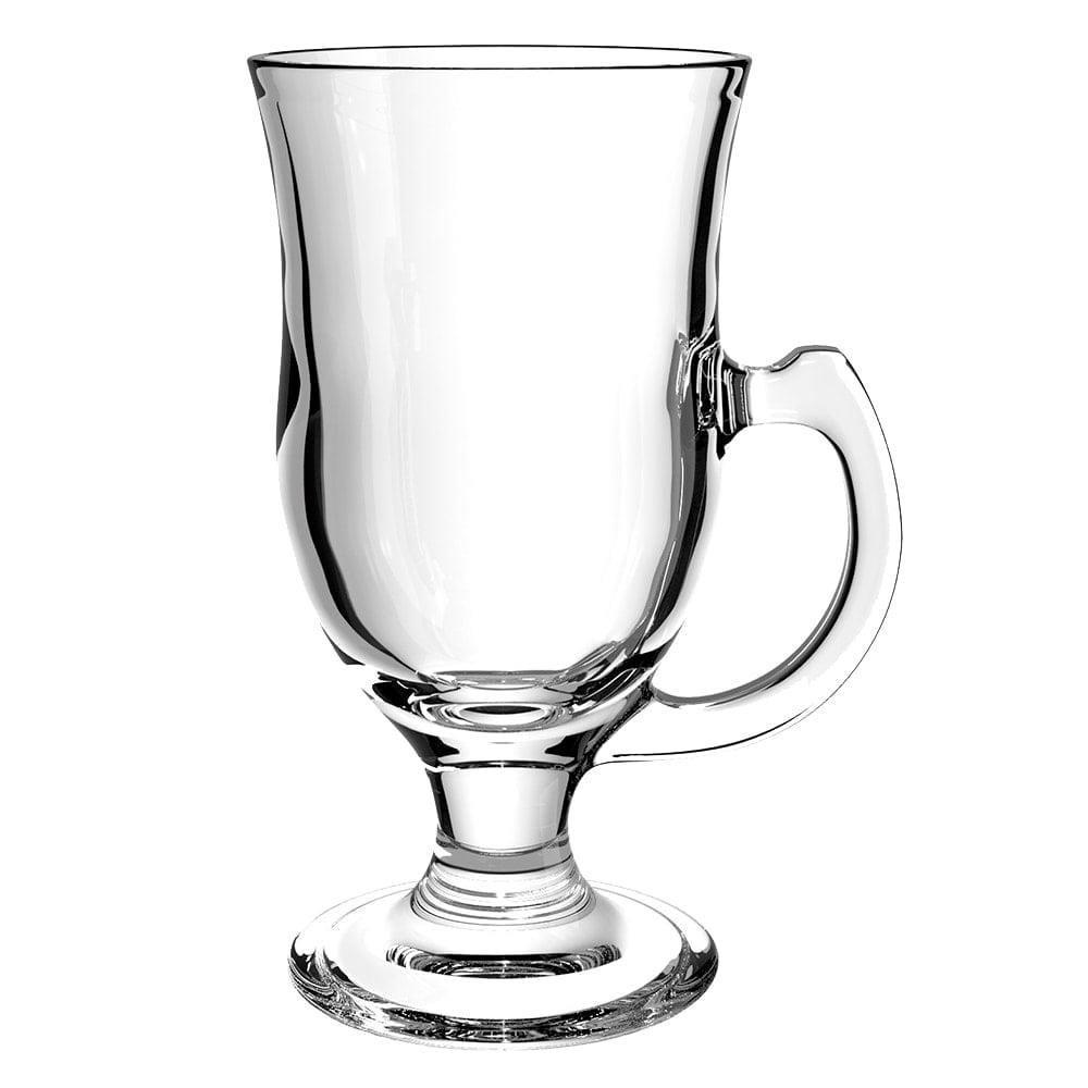 Caneca Irish Coffe 228mls de vidro cappuccino com alça