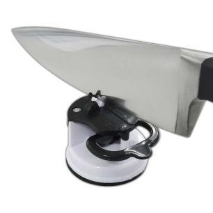 Afiador de facas com ventosa fixa fácil