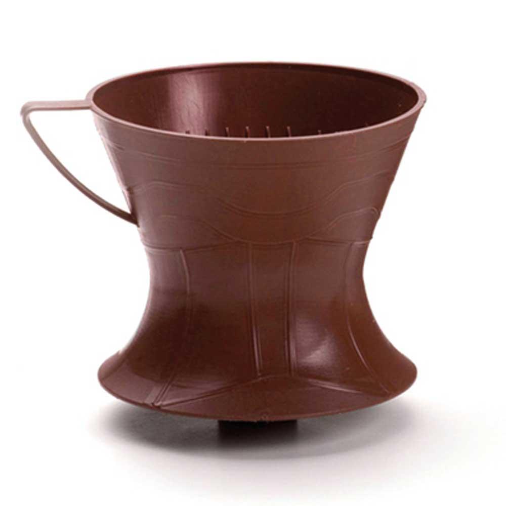 Porta filtro de café 102 250mls bico direcionador marrom