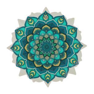 Mandala em Cerâmica Pequena Verde