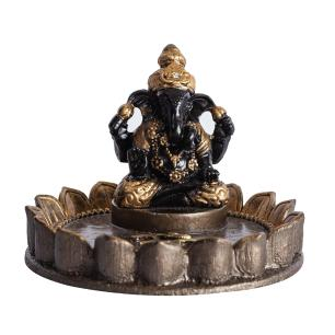 Incensário Ganesha na Flor de Lótus