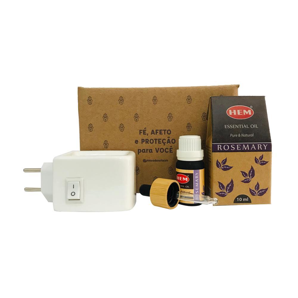 Kit Energizante - Difusor elétrico + Óleo Rosemary Hem