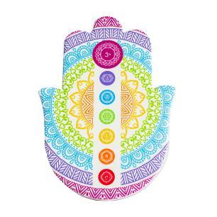 Mão Hamsa Decorativa Chakras Alinhados