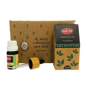 Kit para Imunidade - Aromatizador Pessoal + Óleo Eucalyptus Hem