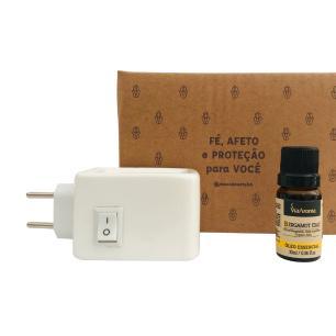 Kit para Imunidade - Difusor elétrico + Óleo Bergamot Italy Via Aroma
