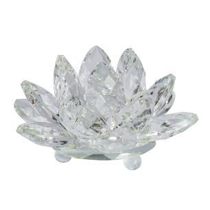 Flor de Lótus de Cristal Incolor Média