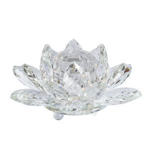 Flor de Lótus de Cristal Incolor Pequena
