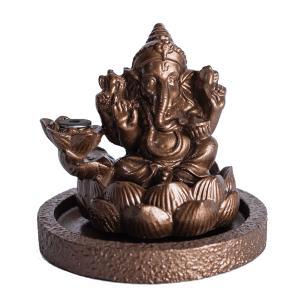 Incensário Cascata Ganesha Bronze