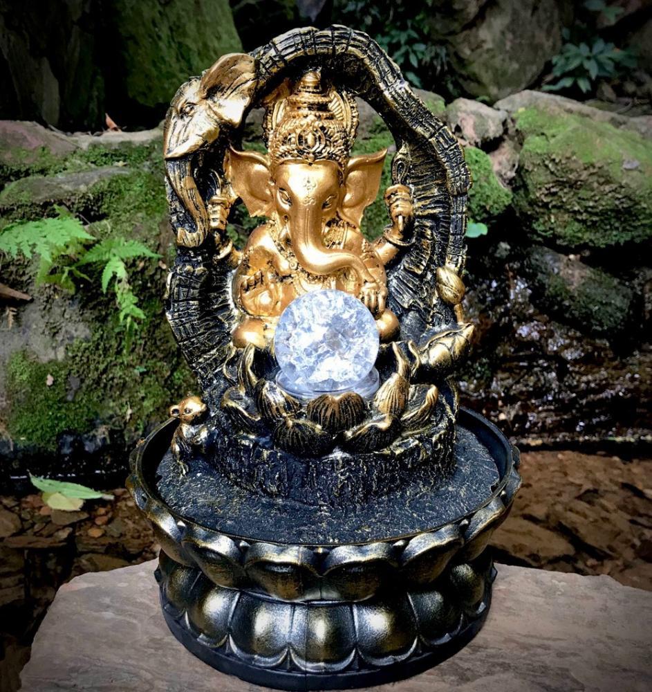 Fonte Ganesha com Elefante e Rato