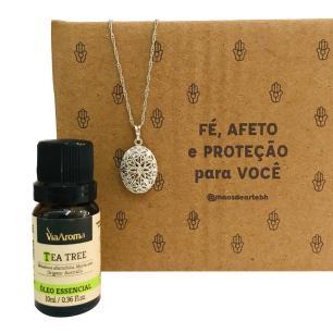 Kit para Imunidade - Aromatizador Pessoal + Óleo Tea Tree Via Aroma