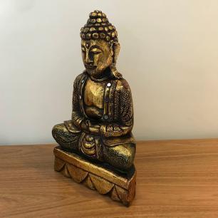 Buda Dourado em Madeira 40cm