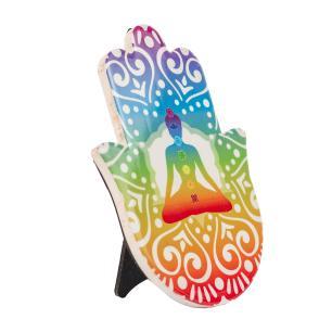 Mão Hamsa Decorativa Chakras