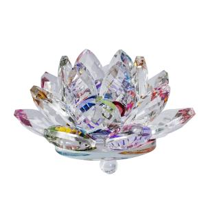 Flor de Lótus de Cristal Colorida Médio