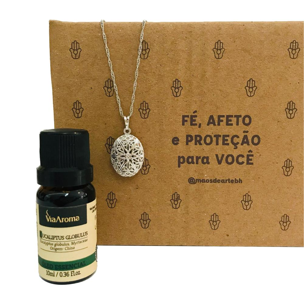 Kit para Imunidade - Aromatizador Pessoal + Óleo Eucalipto Via Aroma