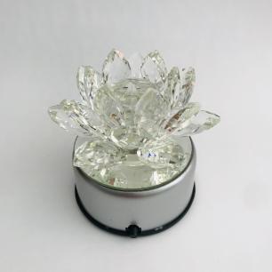 Base Giratória Elétrica com Led RGB para Flor de Lótus