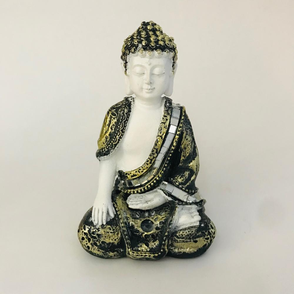 Buda Tocar a Terra com  Manto Espelhado