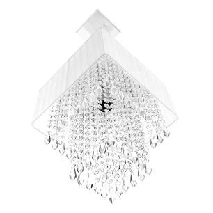 Lustre Para Sala De Cupula Cristal Acrílic Marrycrilic Branco
