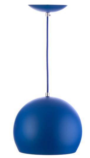 Kit 5 Lustres Pendente Bola Pequena Alumínio 15cm Azul