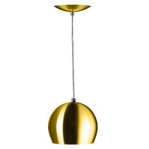 Lustre Pendente Bola Pequena Alumínio 15cm Dourado