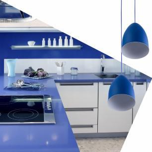 Pendente Cone Bala Sadan Aluminio Duplo Azul