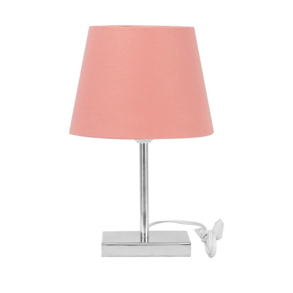 Abajur Eros Touch Dome Rosa com Base Quadrada Magnifico