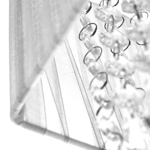 Pendente Cupula Cristal Acr Marrycrilic Prata Com Deslocador