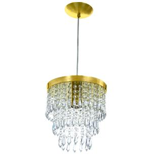 Lustre Pendente De Cristal Acrílico Manucrillic Dourado