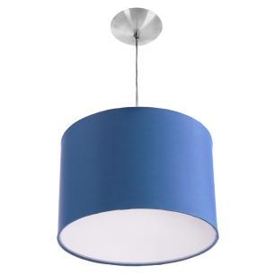Lustre Cupula Pendente Dome 30x20cm Magnífico Azul