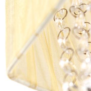 Pendente Cupula Cristal Acr Marrycrilic Bege Com Deslocador