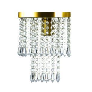 Kit 4 Lustre De Cristal Acrilico Marrycrilic Dourado.