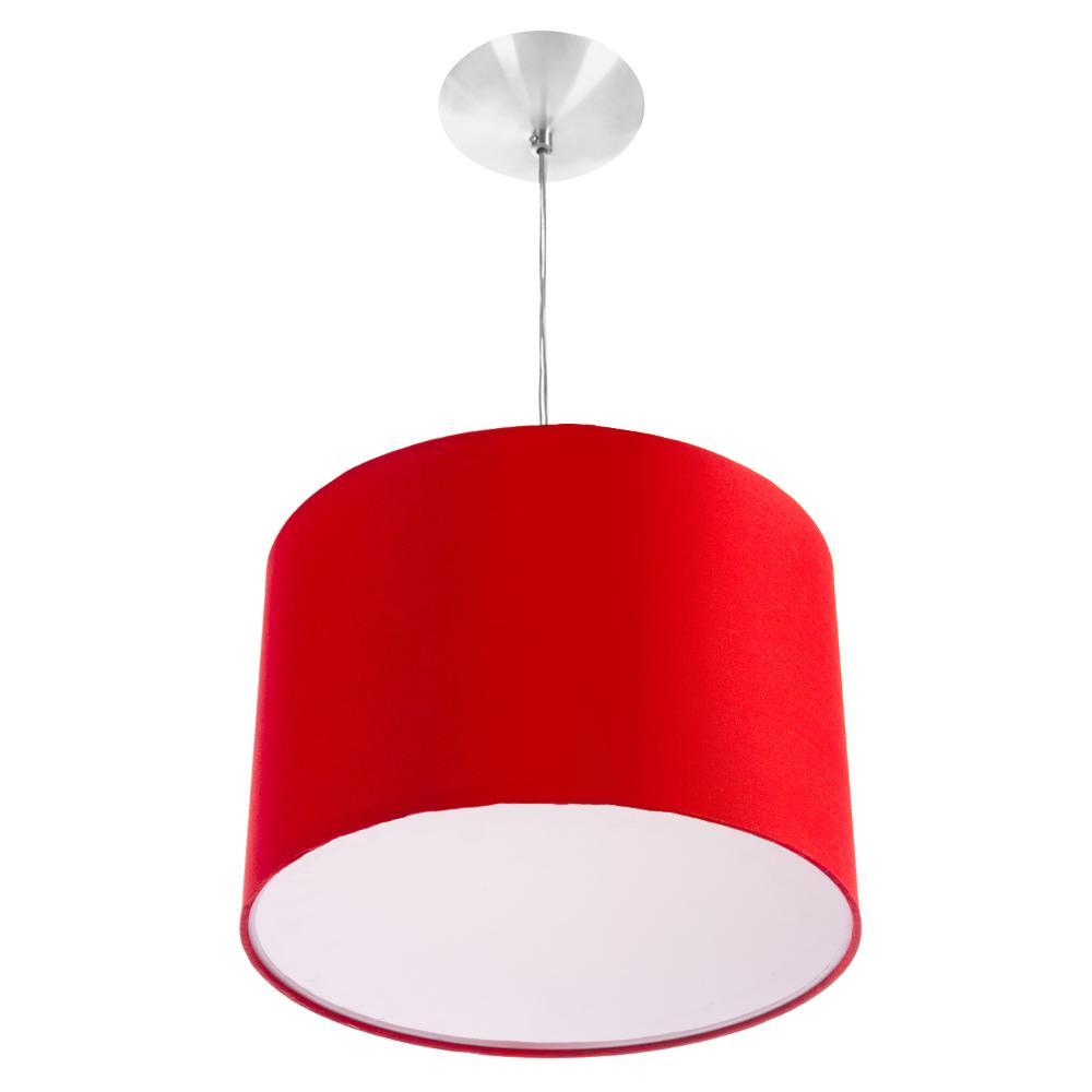 Lustre Cupula Pendente Dome 30x20cm Magnífico Vermelho